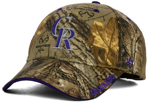 Colorado Rockies '47 MVP Realtree Frost Camo Hat Cap Adult Men's Adjustable