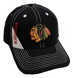 Chicago Blackhawks NHL Black Stitched Hat Cap Adult Men's Adjustable