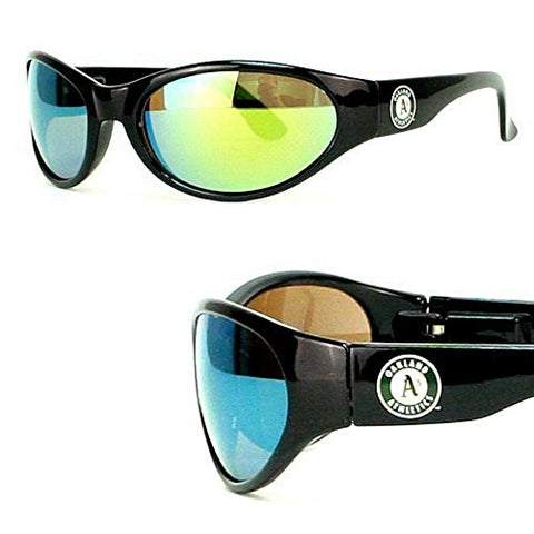 MLB Officially Licensed Team Color Full Frame Sun Revo Sunglasses (Oakland Athletics A's)