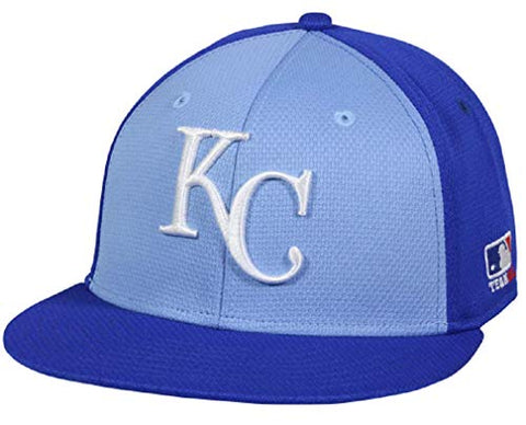 Kansas City Royals MLB OC Sports Blue Flat Brim Colorblock Hat Cap Adult Men's Adjustable