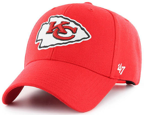 Kansas City Chiefs NFL '47 MVP Basic Torch Red Hat Cap Adult Men's Adjustable