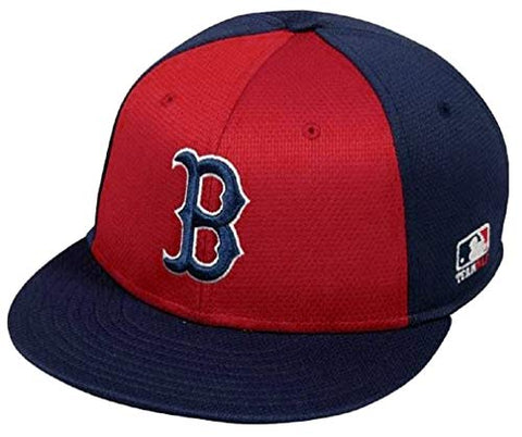 Boston Red Sox Cool and Dry Adjustable One Size Fits Most Hat Cap - Navy & Red