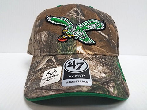 NFL Philadelphia Eagles '47 Frost MVP Camo Adjustable Hat, One Size Fits Most, Realtree Camouflage