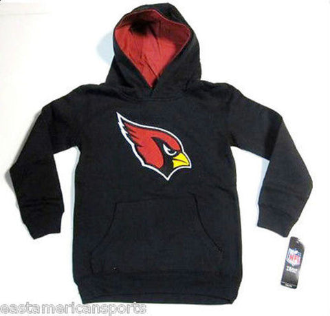 Arizona Cardinals NFL Pullover Black Hoodie Sweat Shirt Jacket Youth Small 8