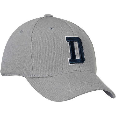 Dallas Cowboys Men's D Logo Fitted Hat Gray (S/M)