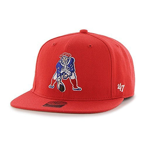 New England Patriots 47 Brand Super Shot Red Strapback Hat