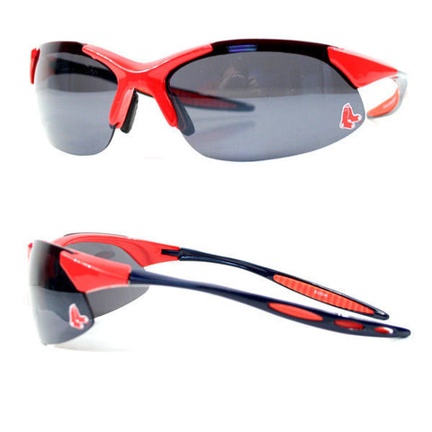 Boston Red Sox MLB Rimless Blade Sport Sunglasses Red Logo UV Protection