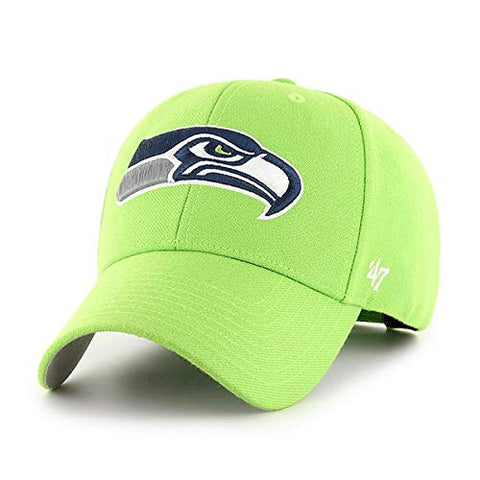 '47 Seattle Seahawks NFL MVP Basic Lime Green Hat Cap Adult Men's Adjustable