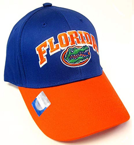 Captivating Headwear Florida Gators NCAA Two Tone Blue Orange Structured Hat Cap Adult Men's Adjustable