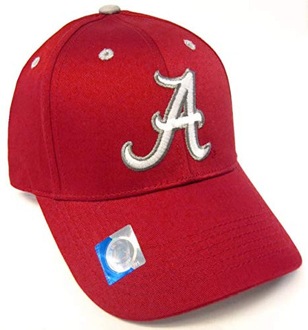 Captivating Headwear Alabama Crimson Tide NCAA Basic Red Structured Hat Cap Adult Men's Adjustable