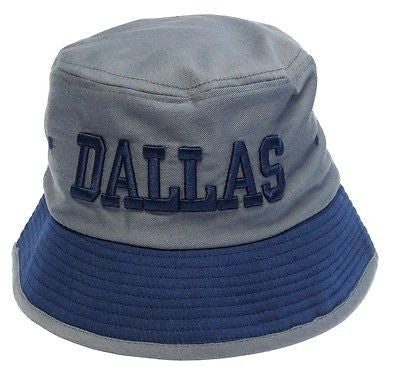 Dallas Cowboys Gray Bucket Golf Fishing Sun Hat Cap Embroidered Text Logo