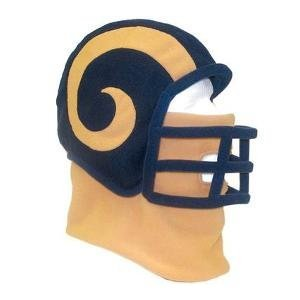 Los Angeles Rams NFL Ultimate Fan Fleece Helmet Beanie Hat Youth Medium