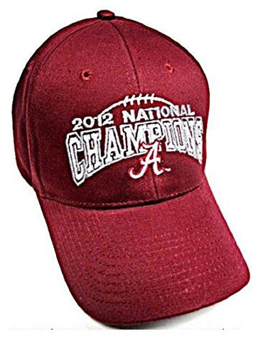 Alabam Crimson Tide NCAA 2012 BCS National Champions Hat Cap Adult Adjustable Men's