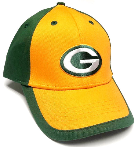 Green Bay Packers NFL Team Apparel Yellow Structured Hat Cap Adult Men's Adjustable