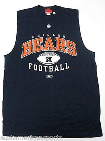 Chicago Bears NFL Reebok Sleeveless Tank Top Gym Shirt Blue Big & Tall Large L