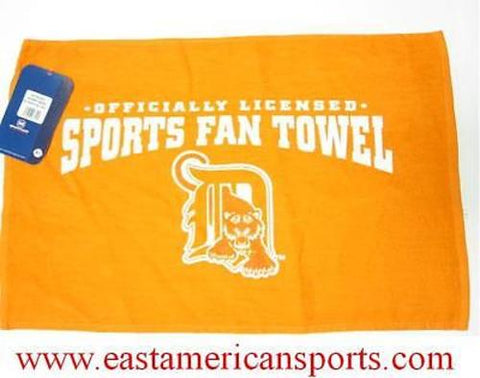 Detroit Tigers MLB 16 x 25 Golf Sports Fan Towel Rally Bath Orange Baseball Rag