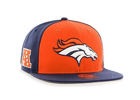 NFL Super Move 47 Brand Captain Wool Strapback Hat (OSFM, Denver Broncos Current)