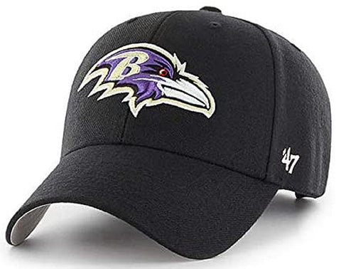 Baltimore Ravens NFL '47 MVP Black Structured Hat Cap Adult Men's Adjustable