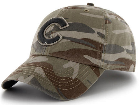 Chicago Cubs MLB '47 Clean Up Faded Camo Tarpoon Hat Cap Adult Adjustable
