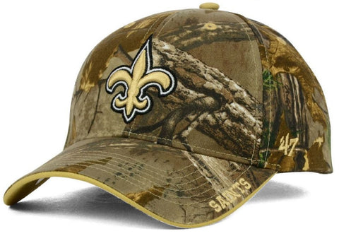 New Orleans Saints NFL '47 MVP RealTree Frost Camo Hat Cap Adult Mens Adjustable