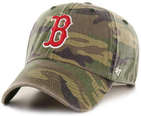 Boston Red Sox MLB '47 Woodland Camo Clean Up Slouch Hat Cap Adult Adjustable