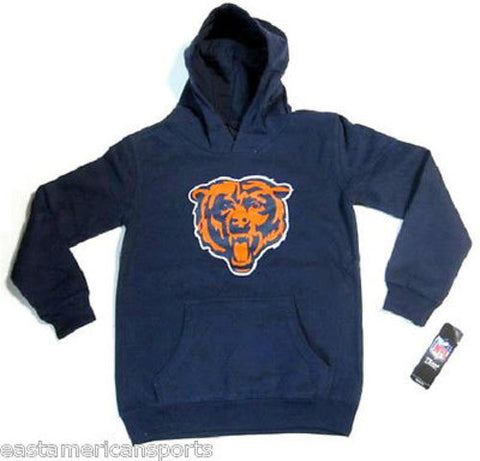 Chicago Bears NFL Pullover Blue Logo Hoodie Sweat Shirt Jacket Youth M 10/12