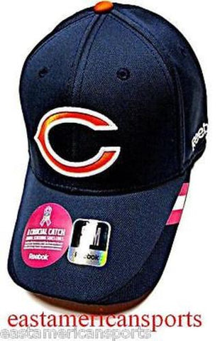 Chicago Bears NFL Reebok Sideline Breast Cancer Blue Pink Hat Cap Fitted S/M