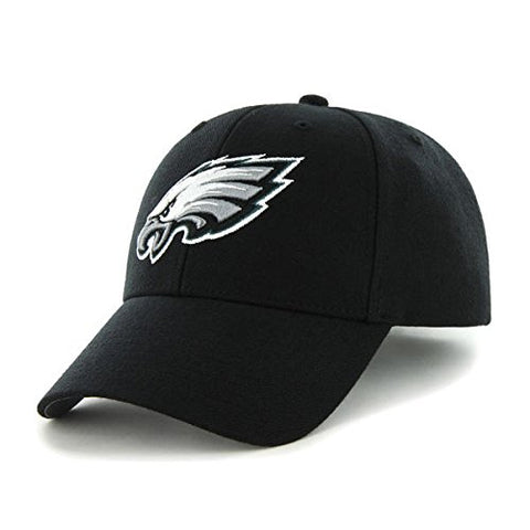 '47 Philadelphia Eagles NFL Brand Basic Black MVP Hat Cap Adult Men's Adjustable