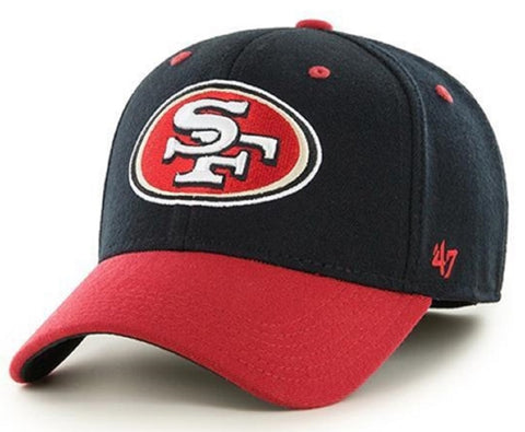 San Francisco 49ers NFL '47 Kickoff Contender Two Tone Black Hat Cap Flex Fit Adult Men's