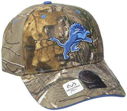 '47 NFL Detroit Lions Realtree Frost MVP Adjustable Hat, One Size, Realtree Camo