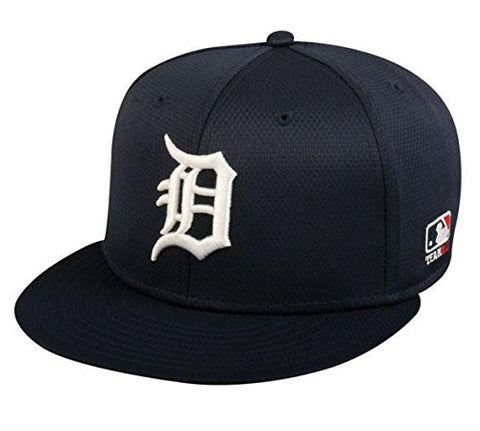 Detroit Tigers MLB OC Sports Navy Blue Flat Brim Hat Cap Adult Men's Adjustable