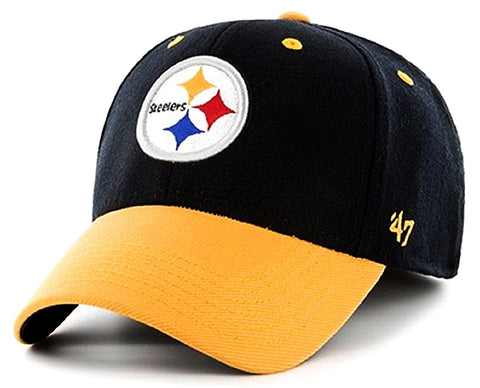 Pittsburgh Steelers NFL '47 Kickoff Contender Two Tone Hat Cap Adult Men's Stretch Fit OSFA