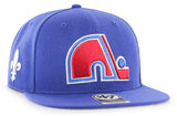 Quebec Nordiques NHL '47 Vintage Blue Sure Shot Captain Hat Cap Adult Adjustable Snapback