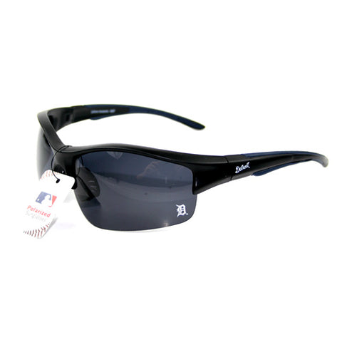 Detroit Tigers MLB Blade Rimless Sunglasses Black Polarized UV Protection Lenses
