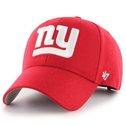 New York Giants NFL '47 MVP Basic Red White NY Logo Hat Cap Adult Men's Adjustable