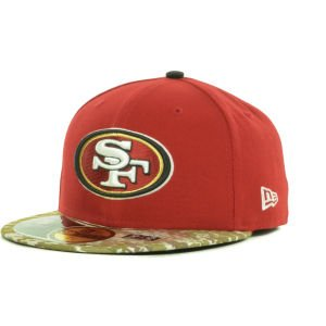 New Era San Francisco 49ers Salute to Service On Field 59FIFTY Cap
