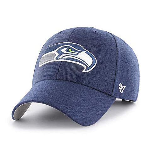 '47 Seattle Seahawks NFL MVP Basic Navy Blue Hat Cap Adult Men's Adjustable