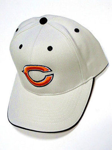 Chicago Bears NFL Khaki Tan Gray Hat Cap Logo Licensed OSFA Adult Adjustable