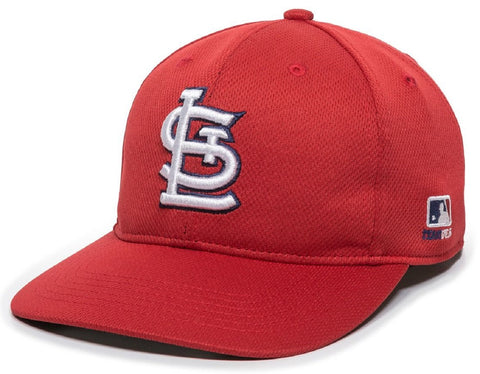 St. Louis Cardinals MLB OC Sports Q3 Wicking Red Hat Cap Adult Men's Adjustable