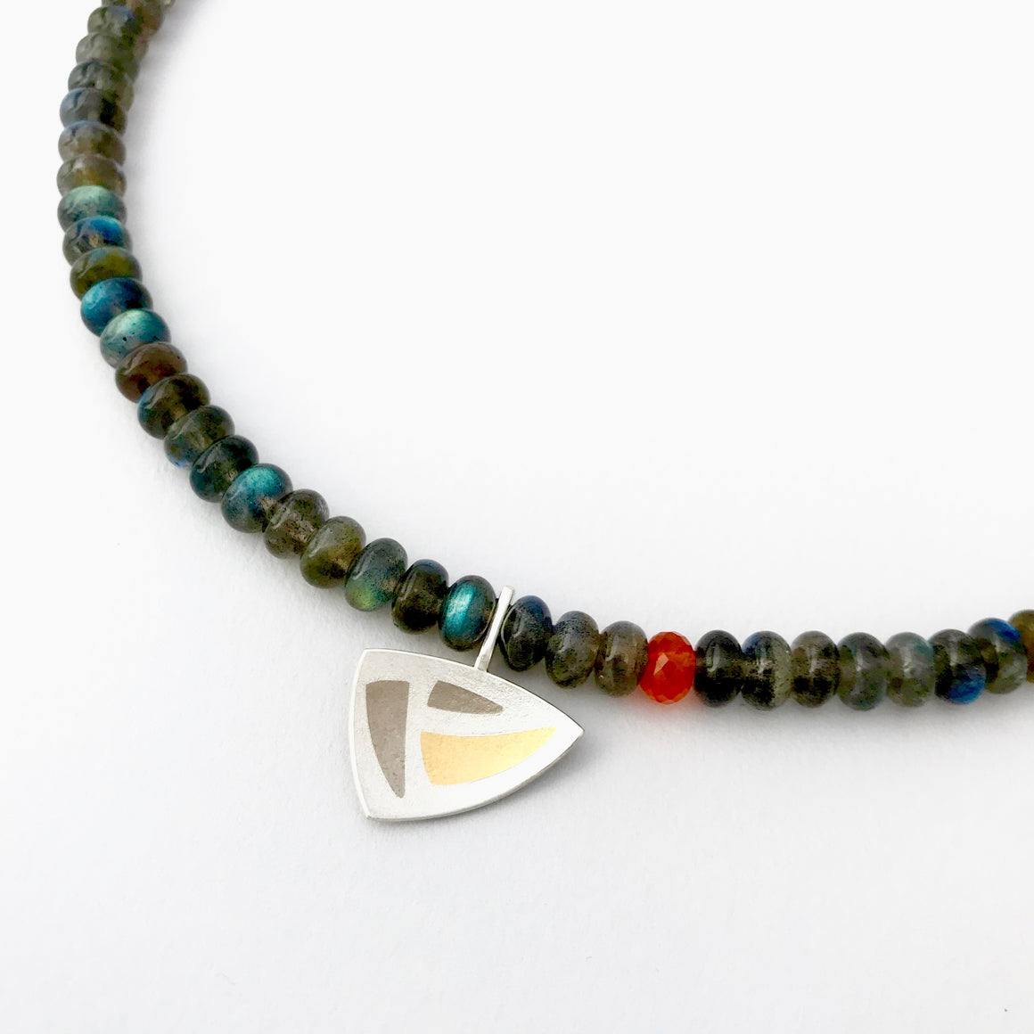 Labradorite Necklace triangular pendant