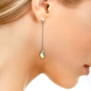 Hanging Spiral Earrings