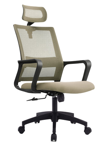 ANTONIO OPERATOR CHAIR WITH HEADREST - GREY