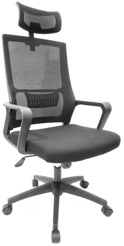 NEVADA OPERATOR CHAIR WITH HEADREST - BLACK