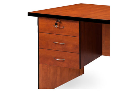SUPER100 3 DRAWER FIXED PEDESTAL WITH TOP LOCK