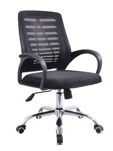 ITAL MEDIUM BACK MESH OPERATOR CHAIR  - BLACK