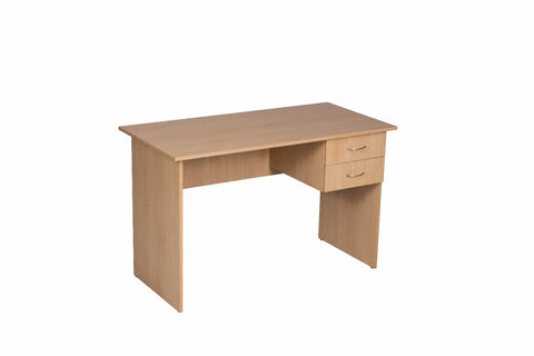 Combo Desk 2 Drawers No Lock Maple