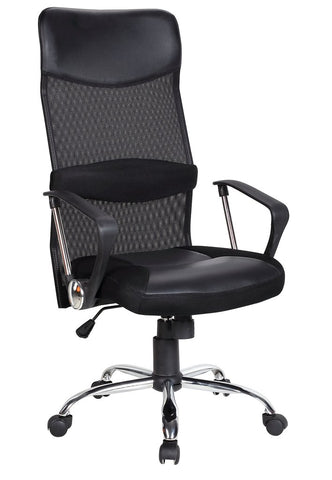 ICE HIGH  BACK OPERATOR BLACK CHAIR