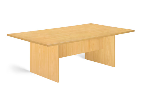 SUPER100  8 SEATER BOARDROOM TABLE OAK