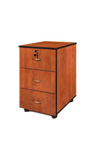 SUPER100 3 DRAWER MOBILE PEDESTAL CHERRY