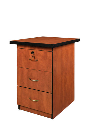 SUPER100 DESK HEIGHT PEDESTAL CHERRY